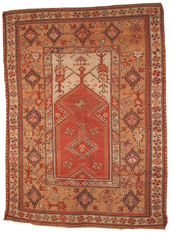 tapis de pri re melas antique fait main turquie 1870s en vente sur pamono. Black Bedroom Furniture Sets. Home Design Ideas