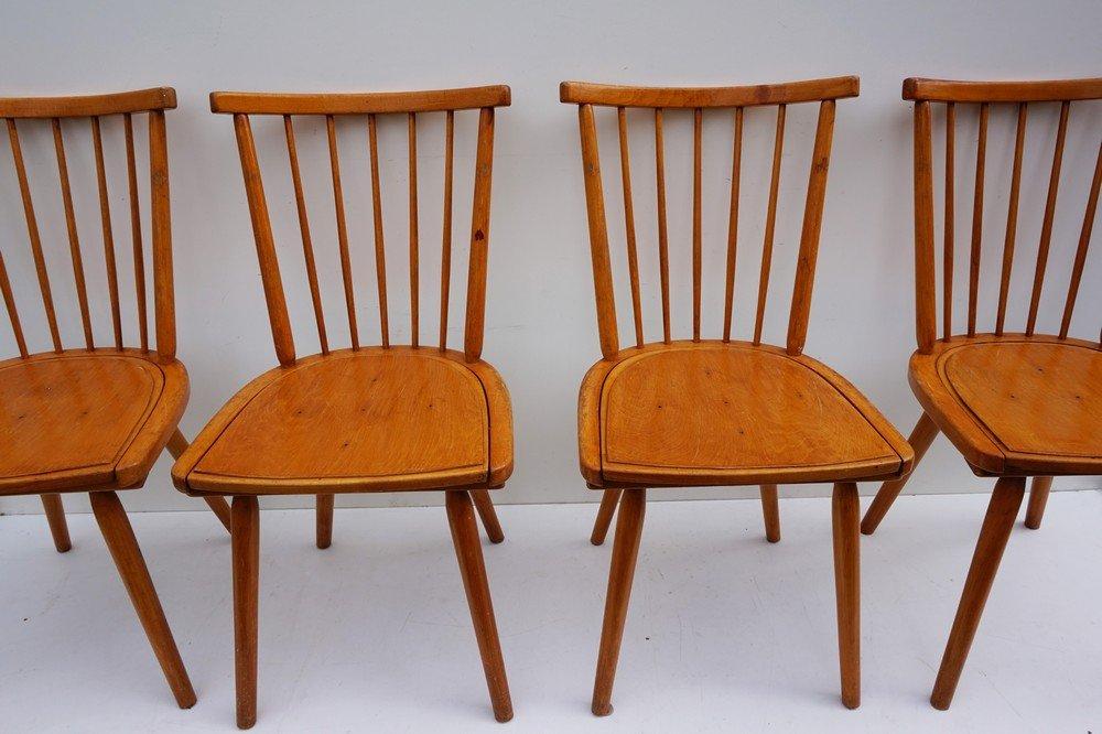 chaises de salle manger avec dossier barreaux en bois