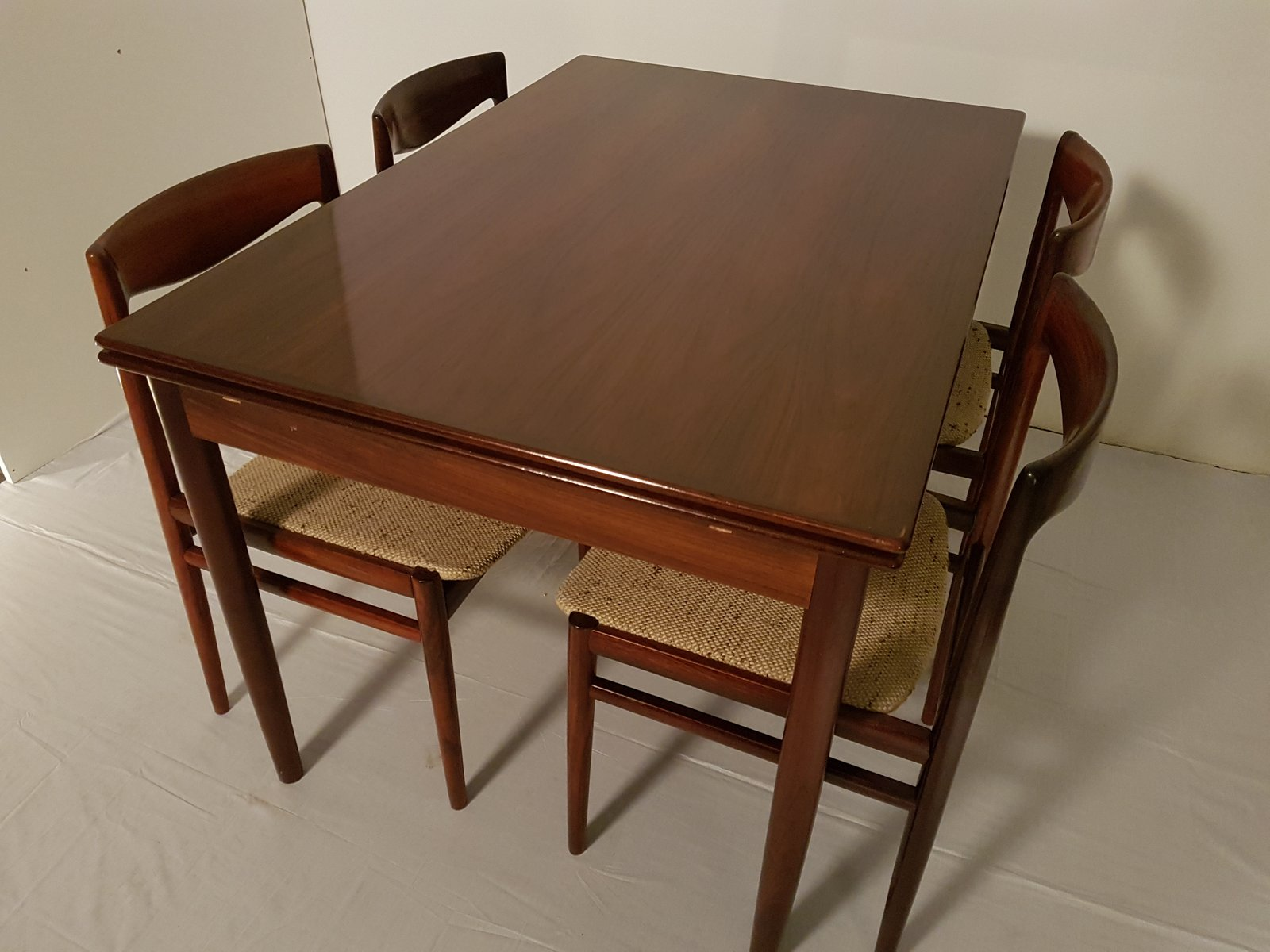 mid century extendable rosewood dining table 1960s for sale at pamono