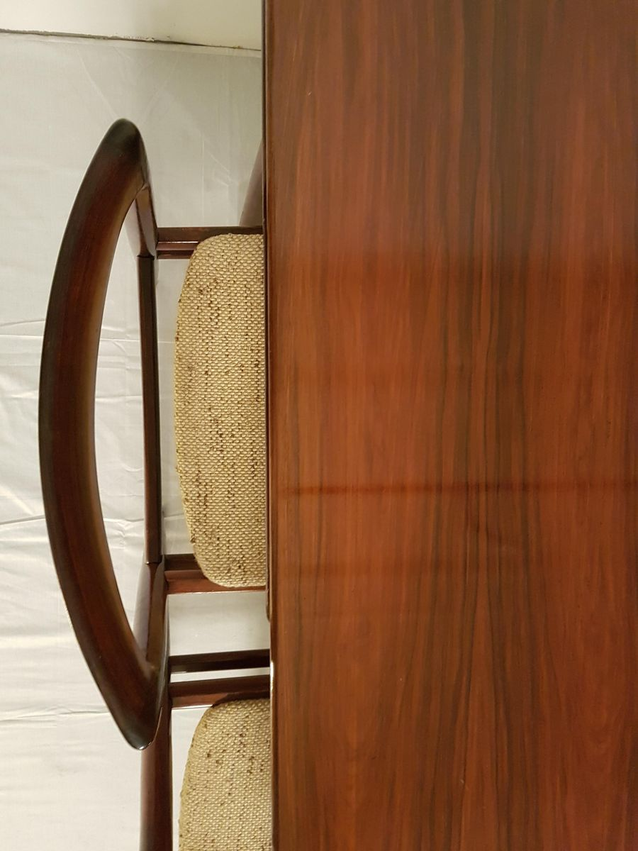 Mid-Century Extendable Rosewood Dining Table, 1960s for sale at Pamono