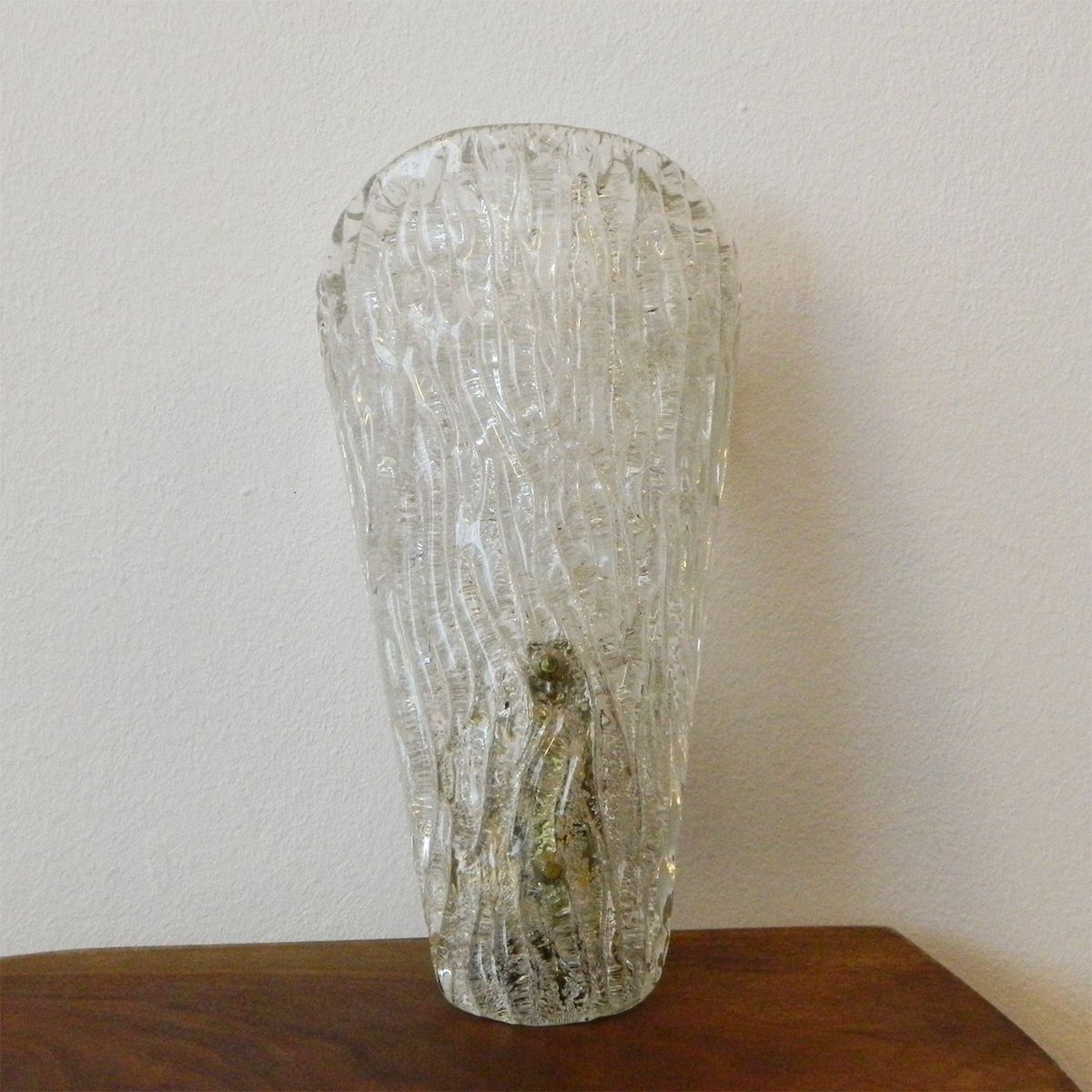 Vintage Glass Wall Sconces : Vintage Ice Glass Wall Sconce from Kalmar for sale at Pamono