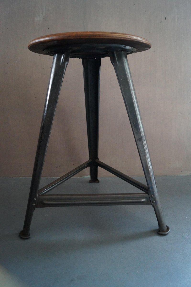 Tabouret d 39 atelier vintage par robert wagner pour rowac en vente sur pamono - Tabouret d atelier vintage ...