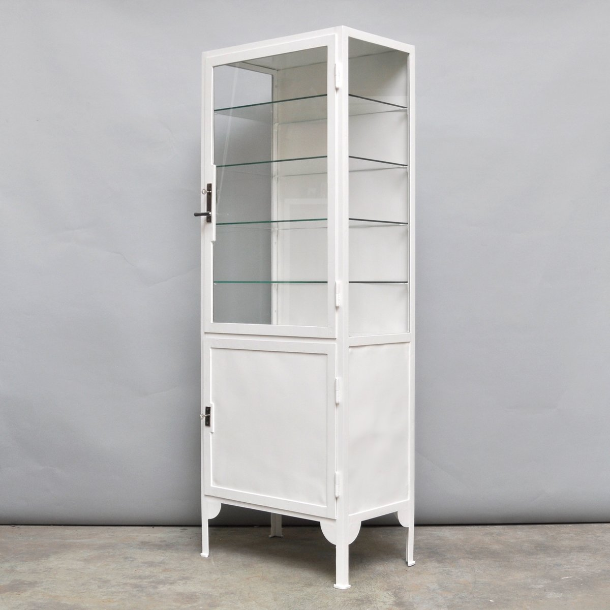 Vintage Steel and Clear Glass Medicine Cabinet, 1940s for sale at ...