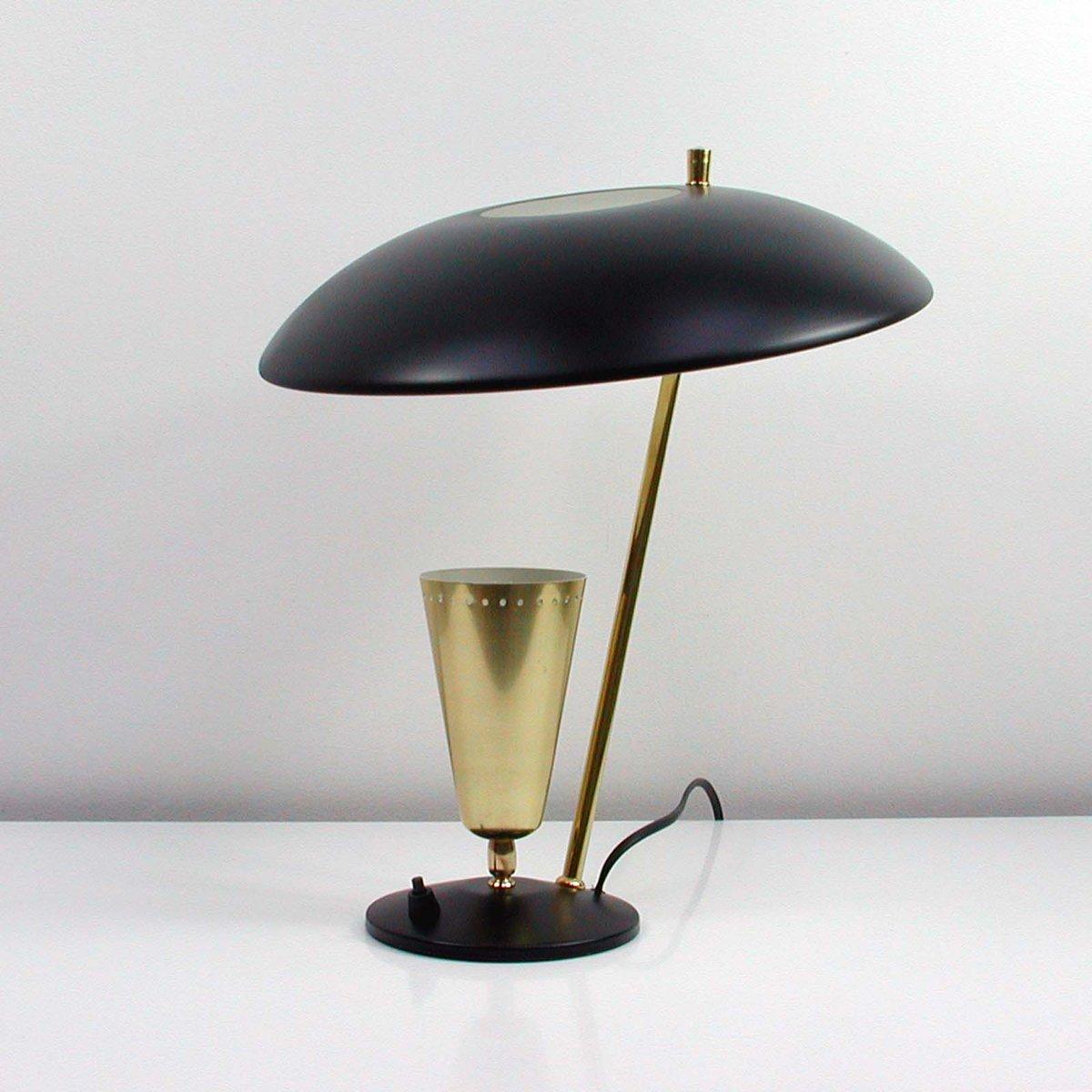 Lampada da tavolo riflessa vintage di aluminor francia - Lampada da tavolo vintage ...