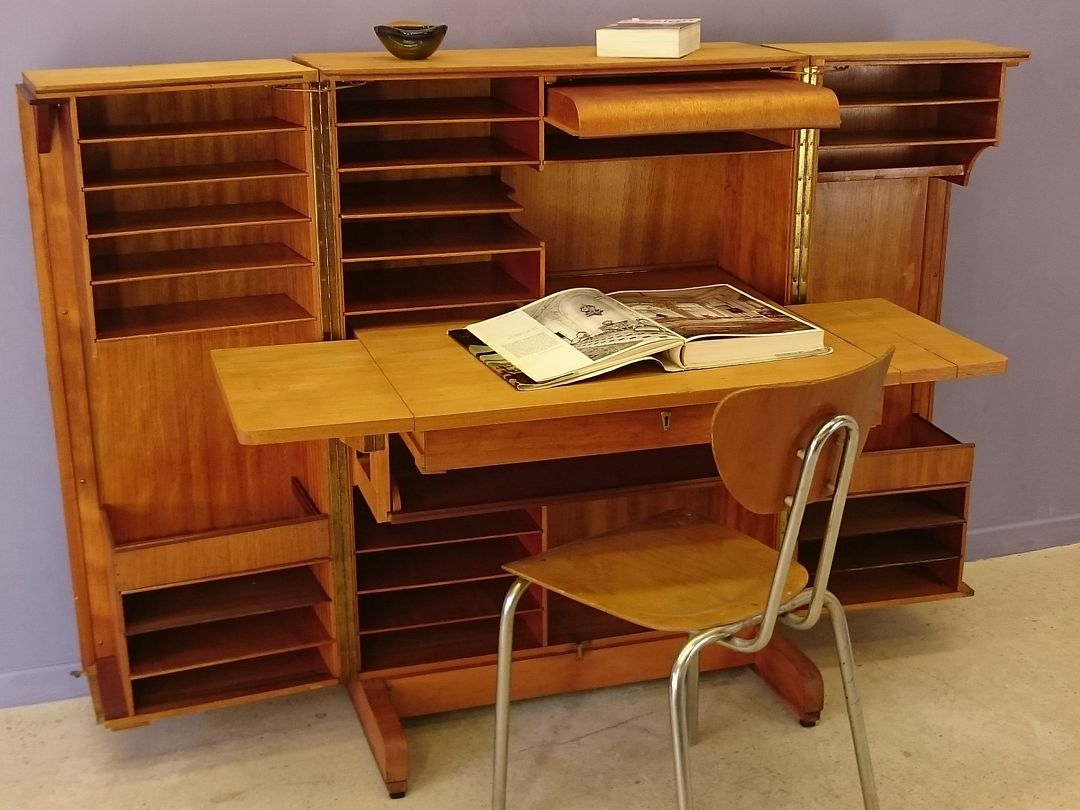 Bureau Magic Box Par Mumenthaler Amp Meier 1950s En Vente