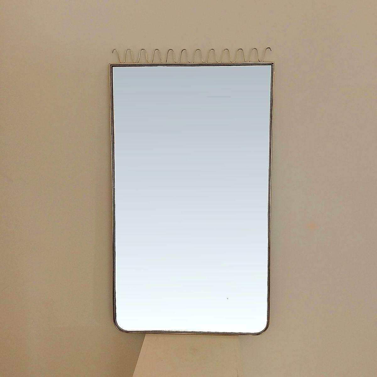 Miroir encadr en laiton italie 1950s en vente sur pamono for Miroir laiton