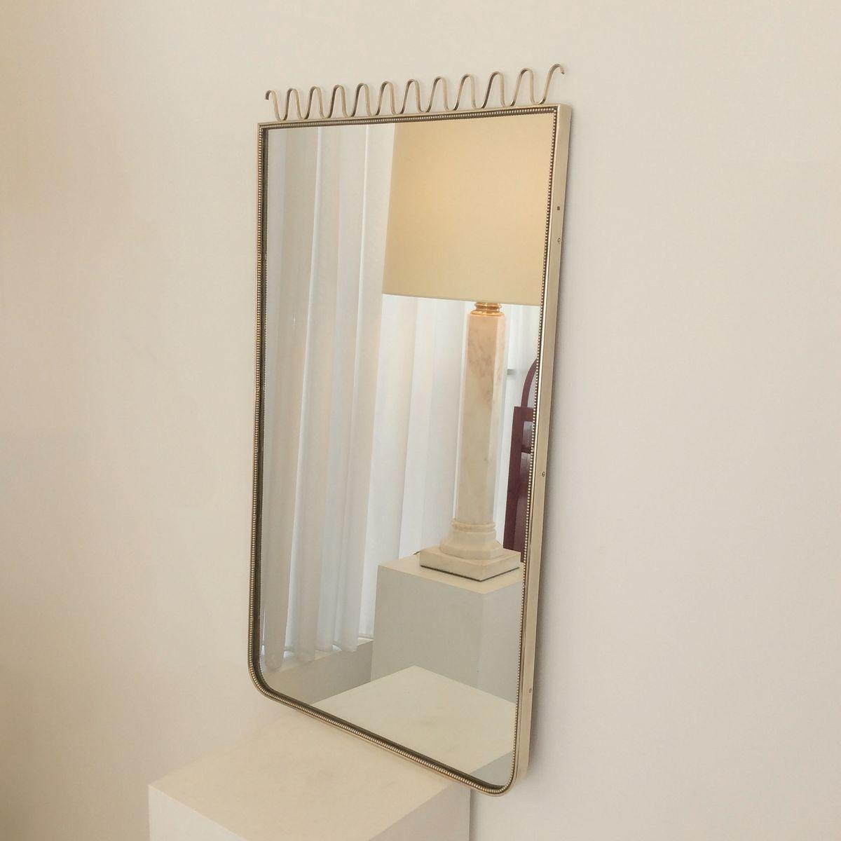 Miroir encadr en laiton italie 1950s en vente sur pamono for Miroir encadre