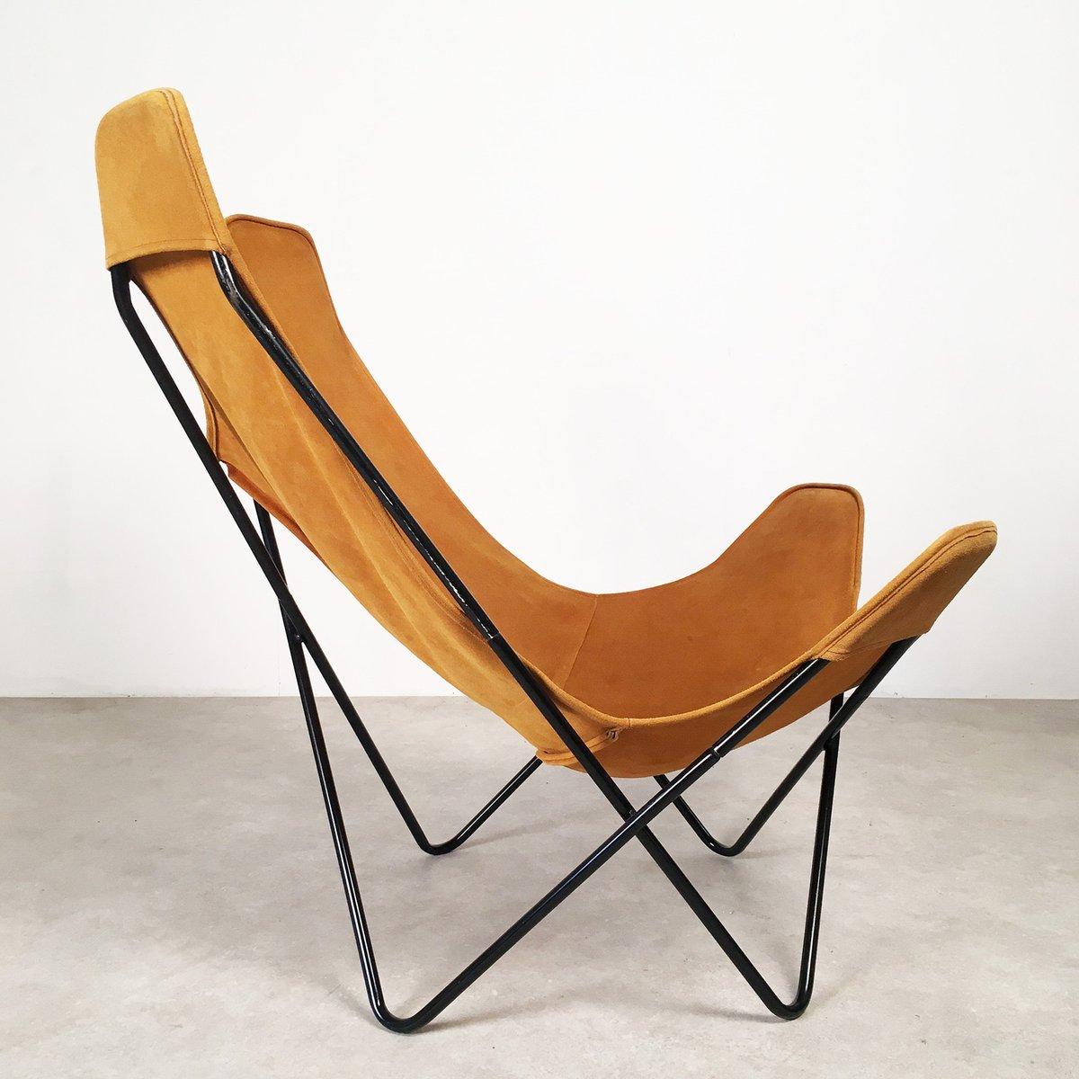 chaise butterfly par jorge hardoy ferrari pour knoll 1950s en vente sur pamono. Black Bedroom Furniture Sets. Home Design Ideas