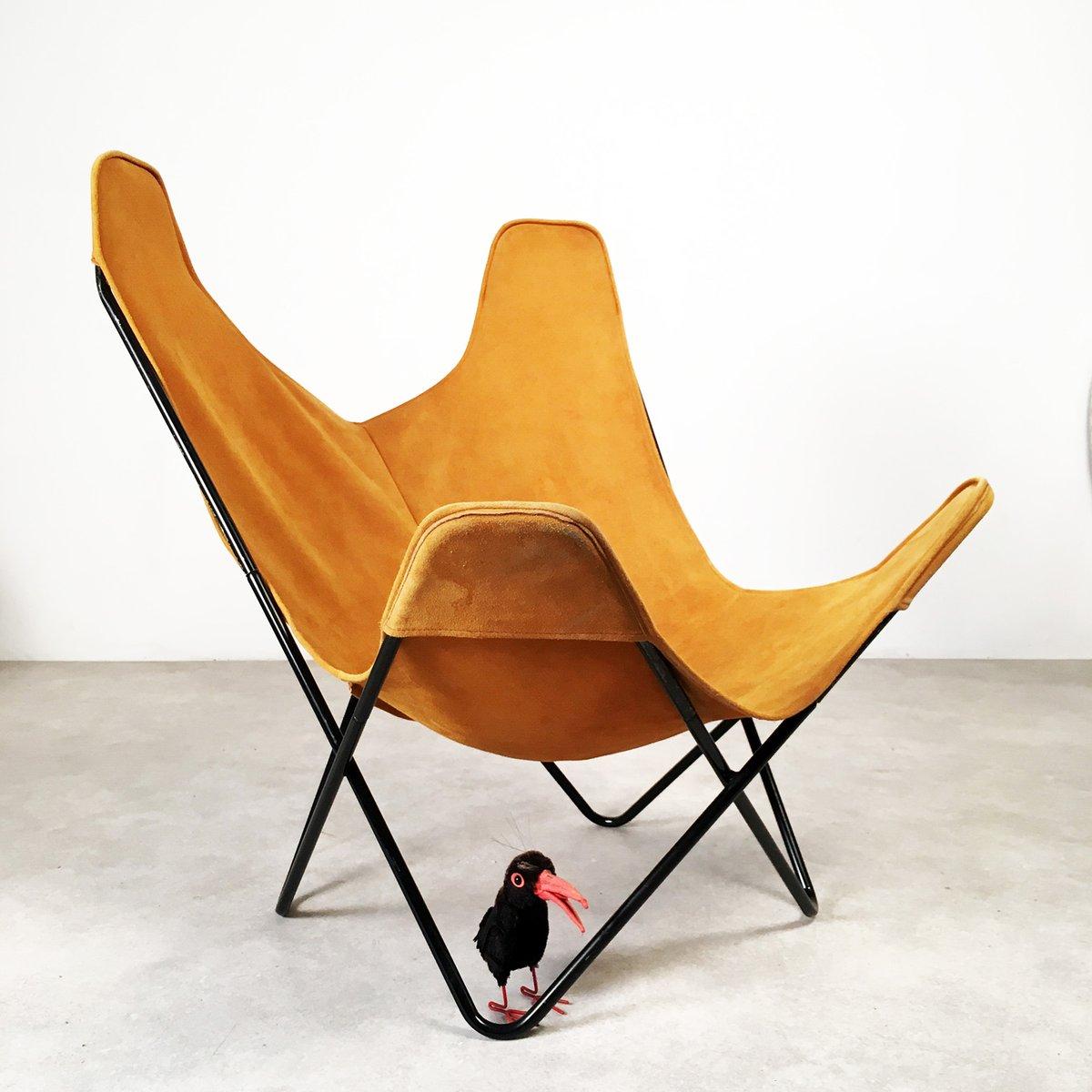 chaise butterfly par jorge hardoy ferrari pour knoll. Black Bedroom Furniture Sets. Home Design Ideas