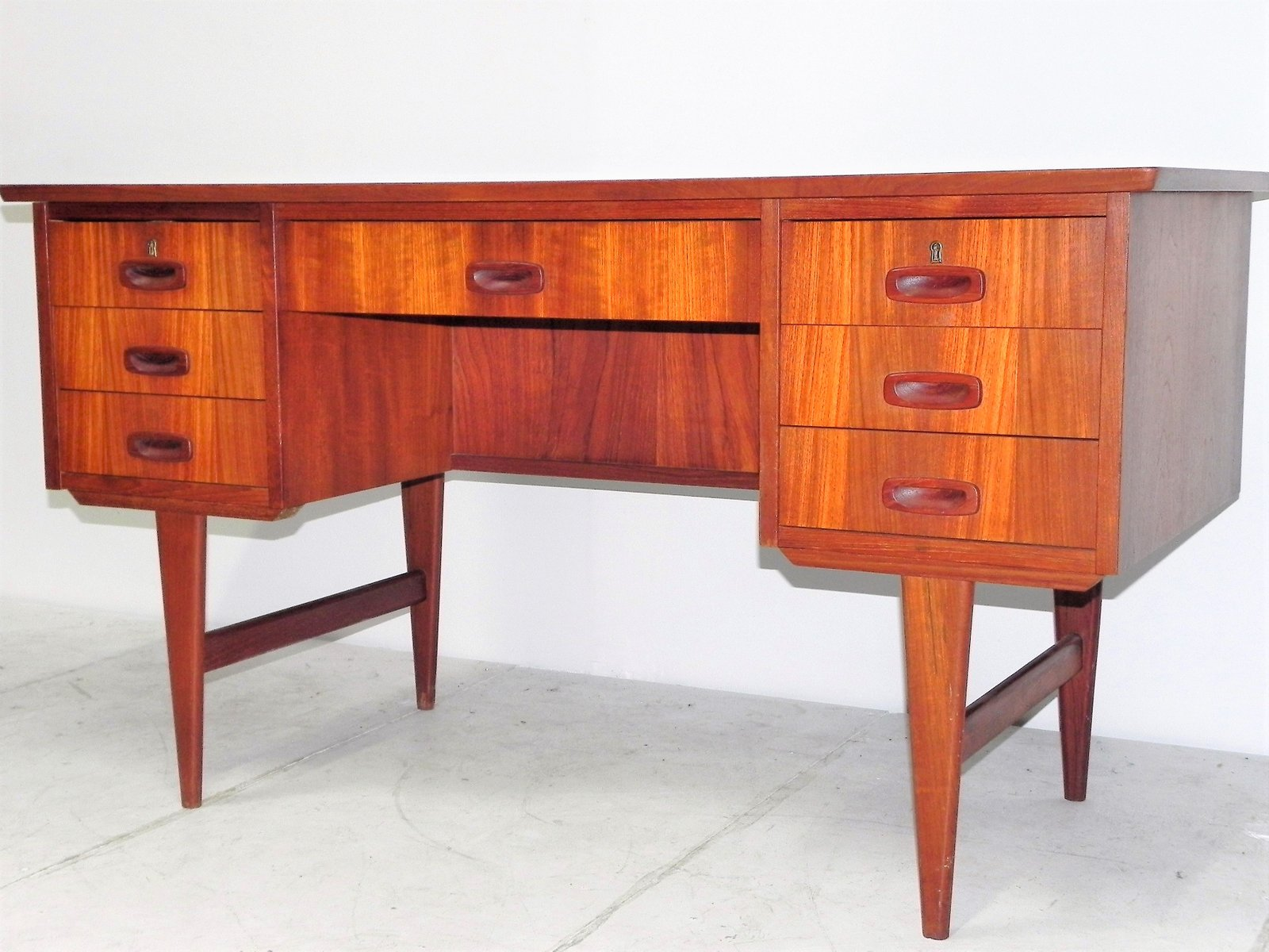Scandinavian Desk vintage scandinavian desk in teak with two compartments for sale