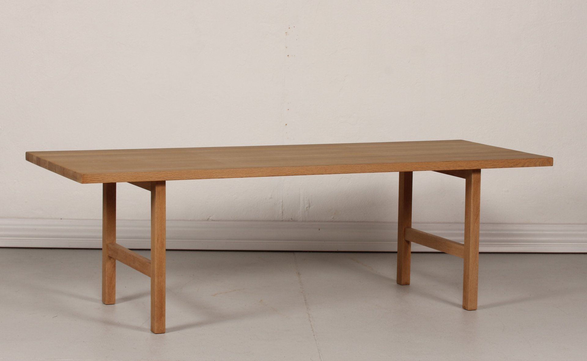 Vintage Danish Oak Long and Low Coffee Table 1970s for sale at Pamono
