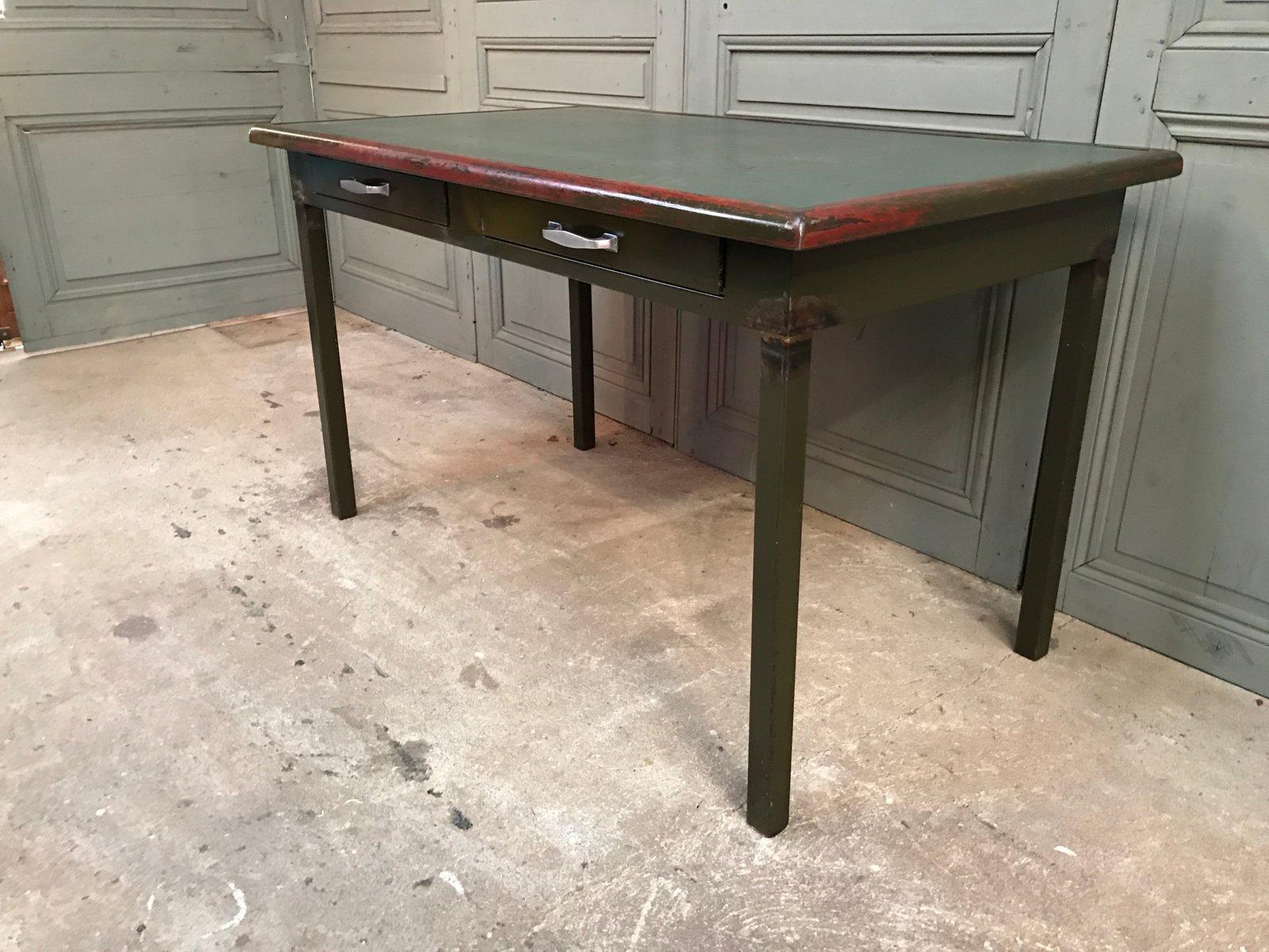 Bureau en m tal vintage d atal en vente sur pamono for Bureau metal