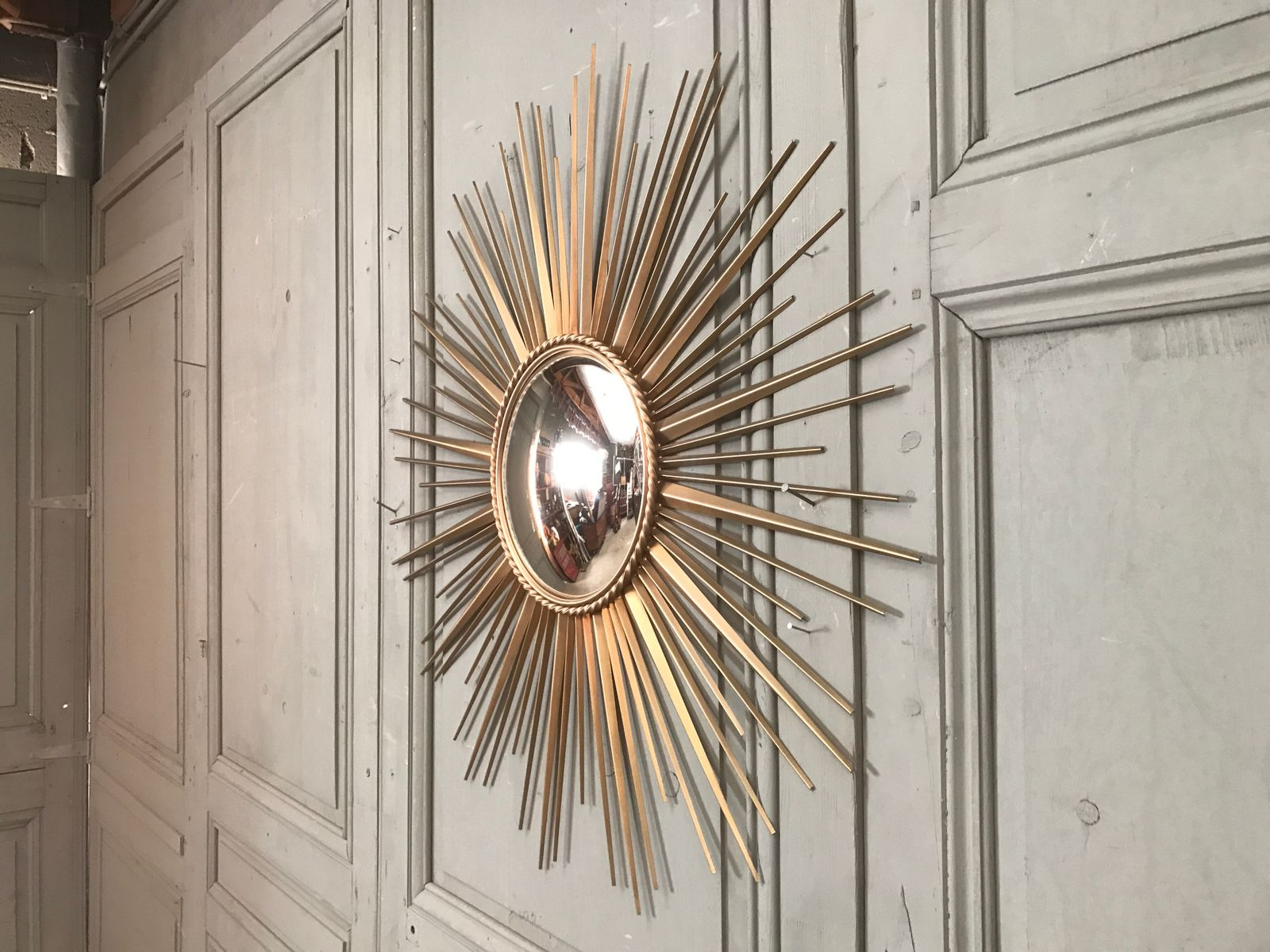 French mirror in sunburst shape from chaty vallauris - Point p vallauris ...