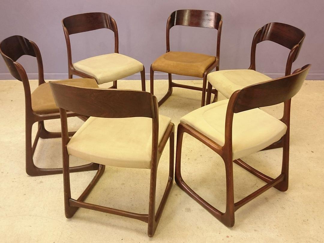 skandinavische palisander st hle von baumann 1950er 6er. Black Bedroom Furniture Sets. Home Design Ideas