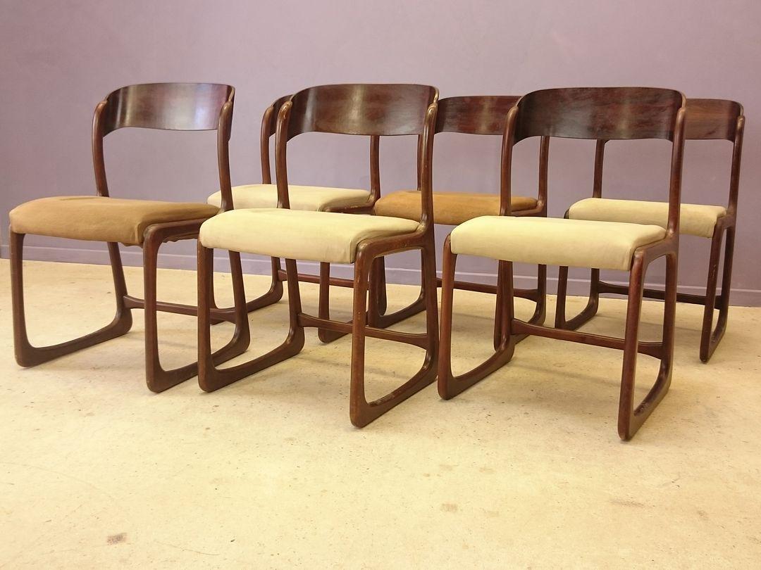 skandinavische palisander st hle von baumann 1950er 6er set bei pamono kaufen. Black Bedroom Furniture Sets. Home Design Ideas