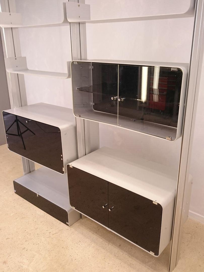 modulares aluminium regal von michel ducaroy f r ligne roset 1970er bei pamono kaufen. Black Bedroom Furniture Sets. Home Design Ideas