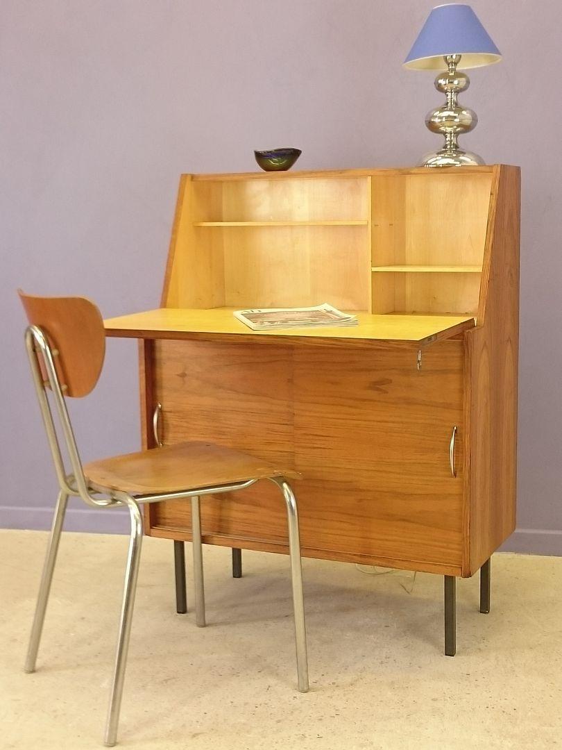 skandinavischer teak sekret r 1950er bei pamono kaufen. Black Bedroom Furniture Sets. Home Design Ideas