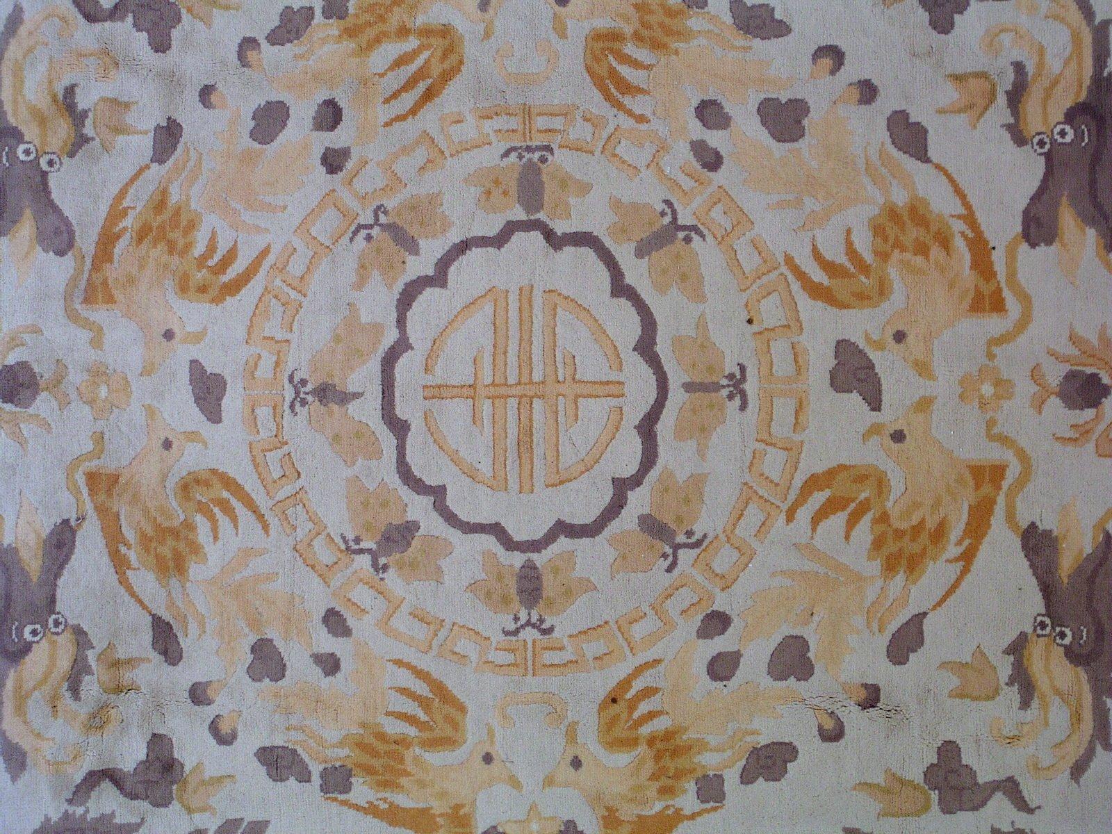 tapis vintage art d co fait main 1930s en vente sur pamono. Black Bedroom Furniture Sets. Home Design Ideas