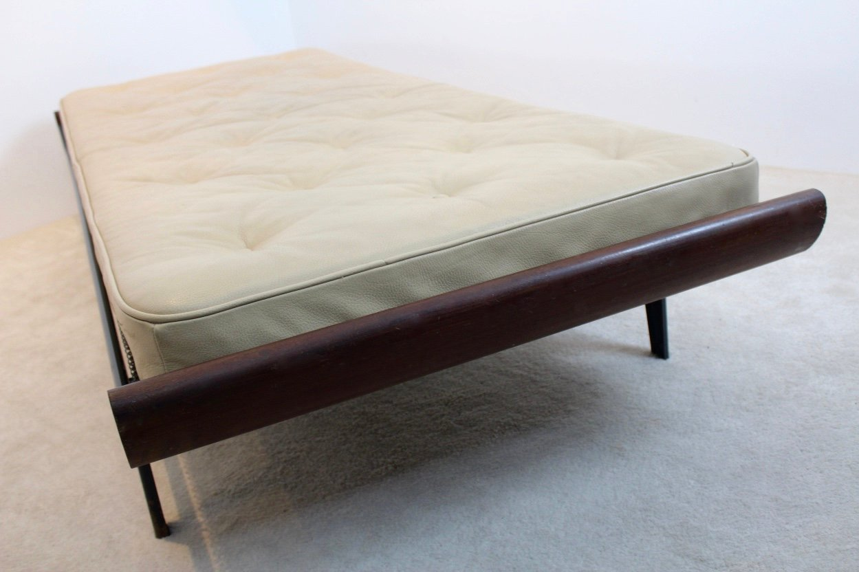 Vintage Cleopatra Daybed with Leather Mattress by Dick
