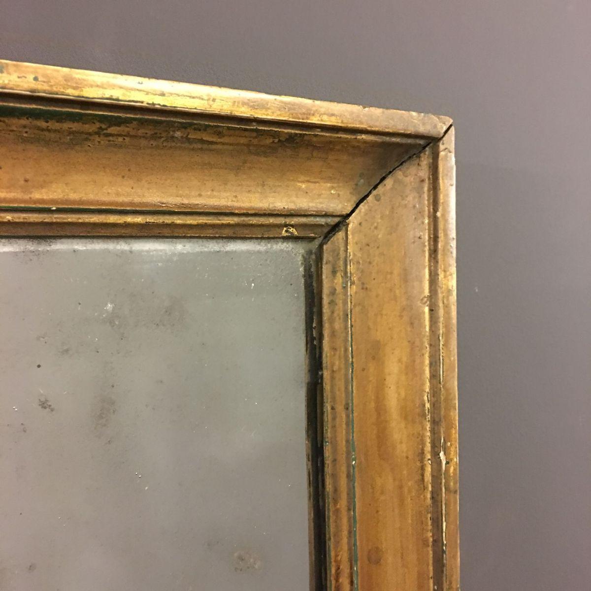 Petit miroir antique en bois dor france en vente sur pamono for Miroir france