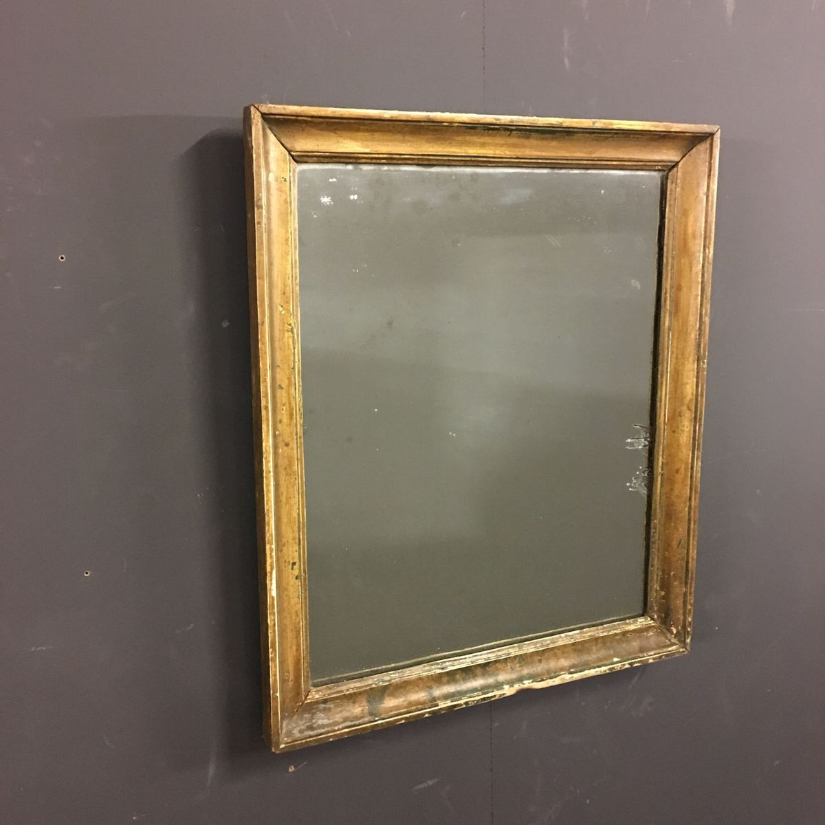 Petit miroir antique en bois dor france en vente sur pamono for Petit miroir