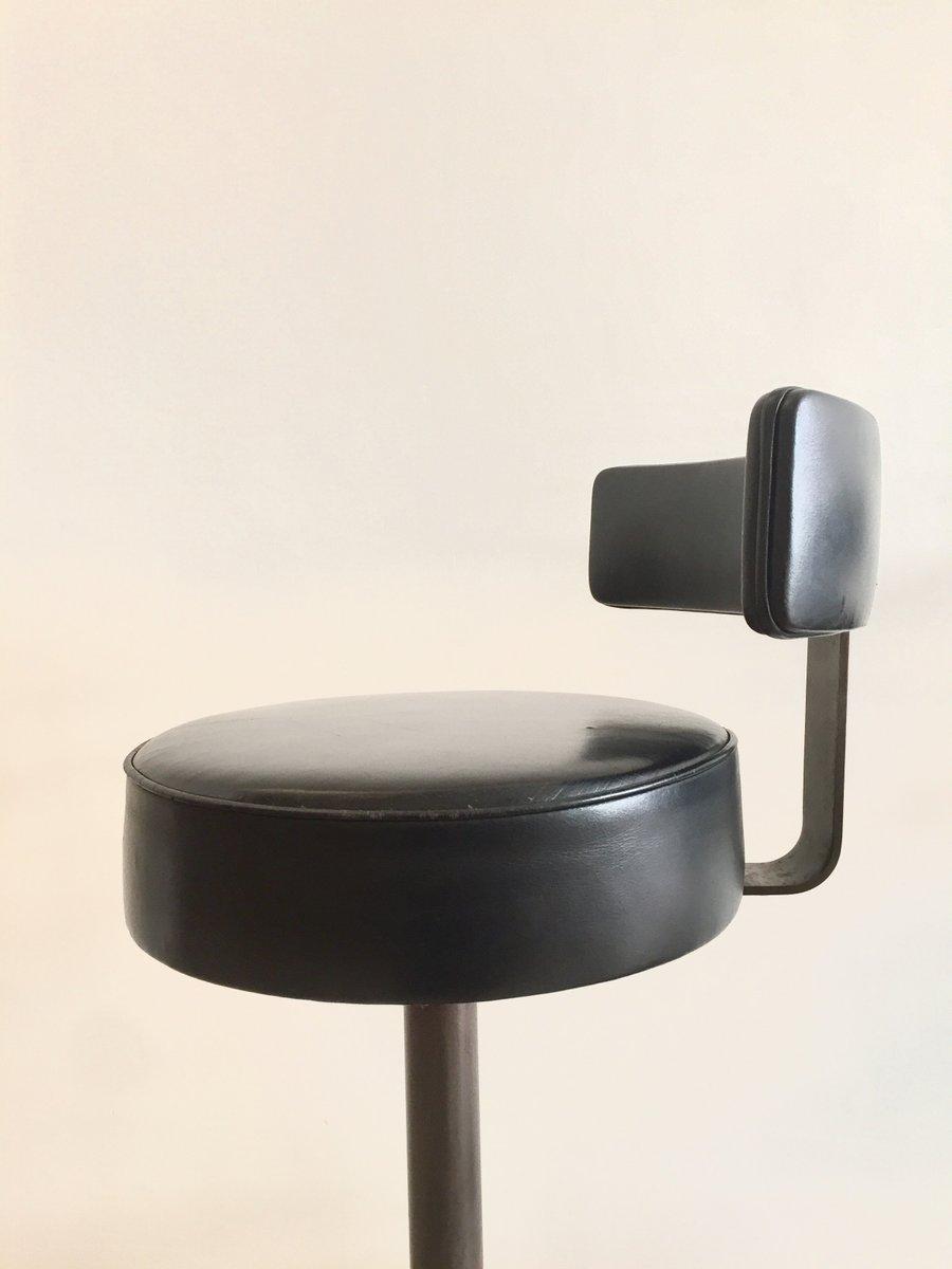moderne stahl leder barhocker 1965 3er set bei pamono kaufen. Black Bedroom Furniture Sets. Home Design Ideas