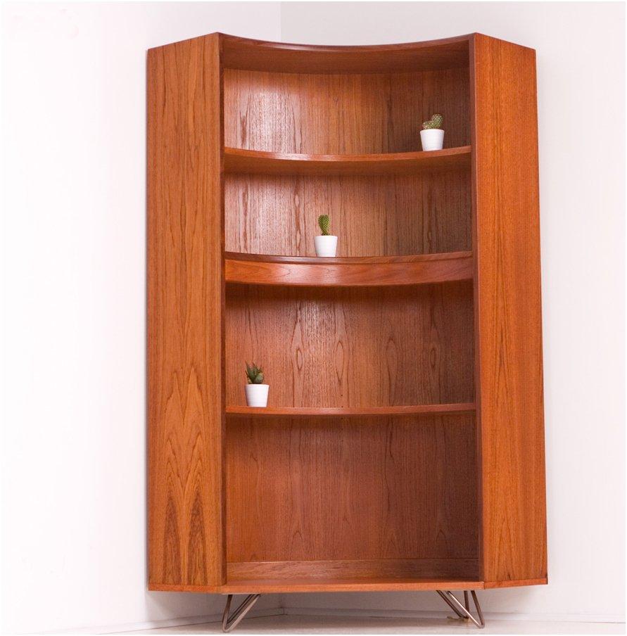 biblioth que pour coin vintage en teck de g plan 1960s en vente sur pamono. Black Bedroom Furniture Sets. Home Design Ideas