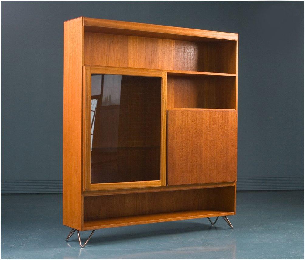 teak glass display cabinets