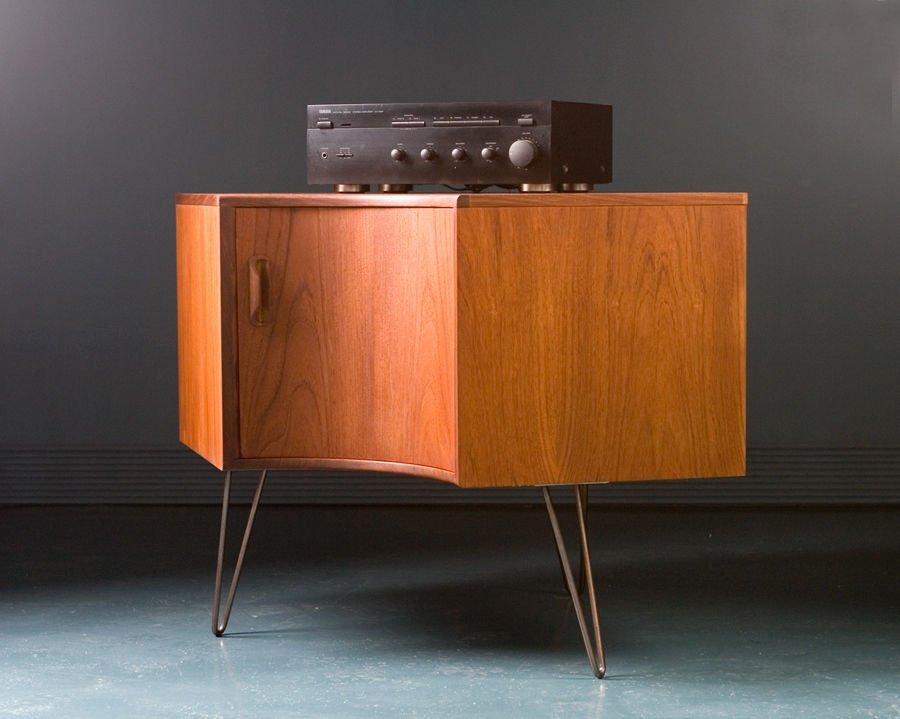 meuble de rangement pour coin mid century en teck de g