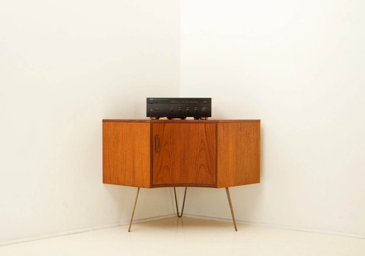 Elegant Mid Century Teak Corner Cabinet From G Plan