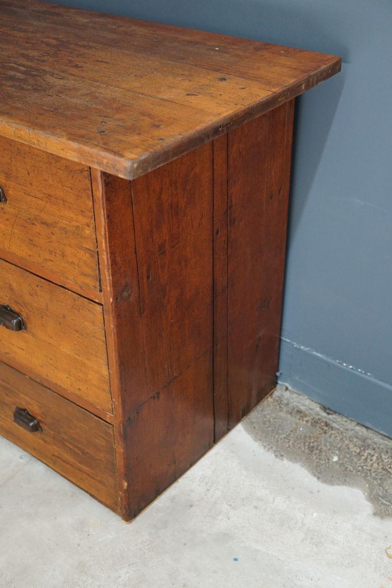 grand meuble apothicaire vintage en h tre france en vente sur pamono. Black Bedroom Furniture Sets. Home Design Ideas