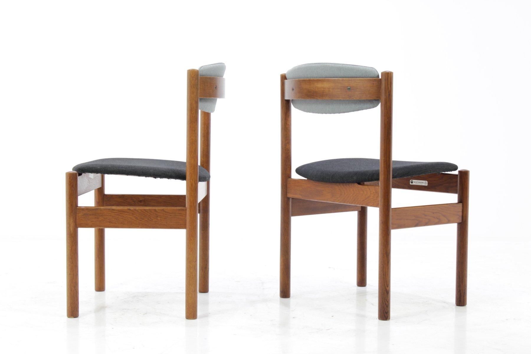 d nische eiche esszimmerst hle von fdb m bler 1960er 4er. Black Bedroom Furniture Sets. Home Design Ideas