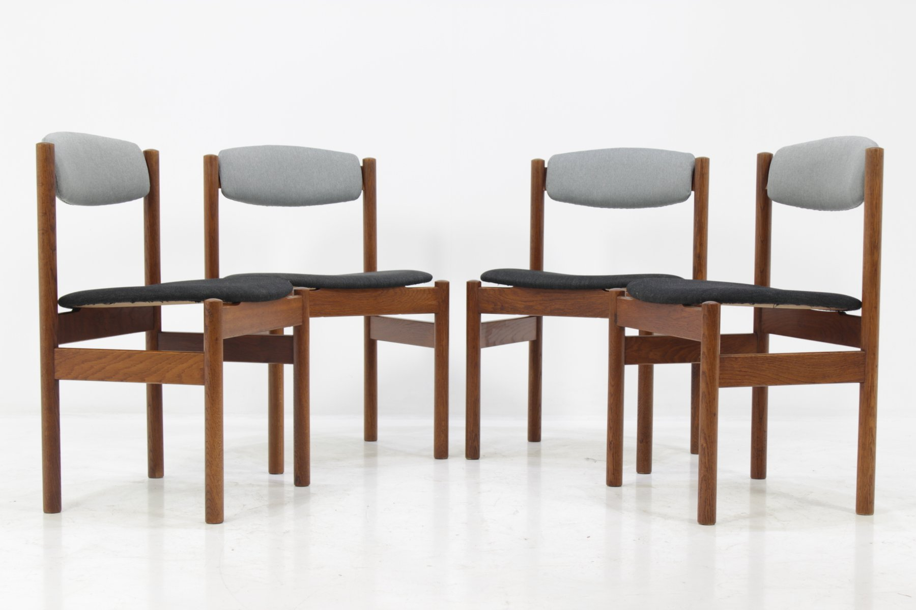danish oak dining chairs from fdb mà bler 1960s set of 4 for sale