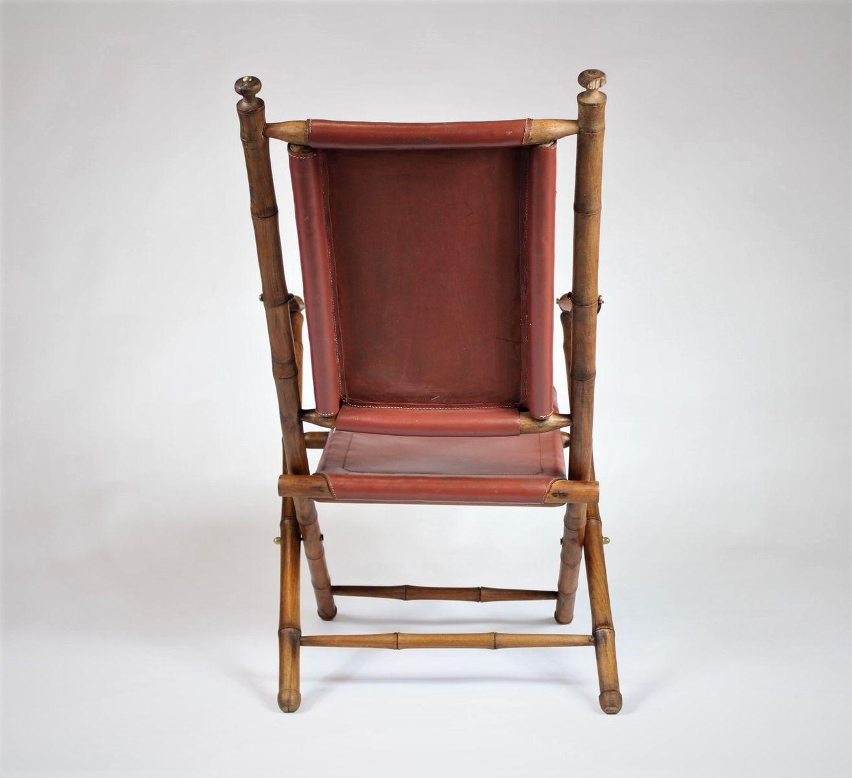 chaise de campagne pliante 1950s en vente sur pamono. Black Bedroom Furniture Sets. Home Design Ideas