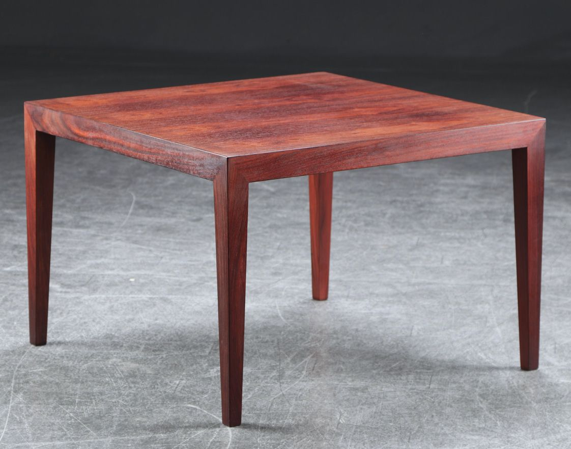 Table d appoint carr e en palissandre par severin hansen - Table d appoint carree ...