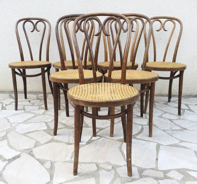 Chaises de bistro en bois courb de radomsko 1930s set for Chaise bistrot solde