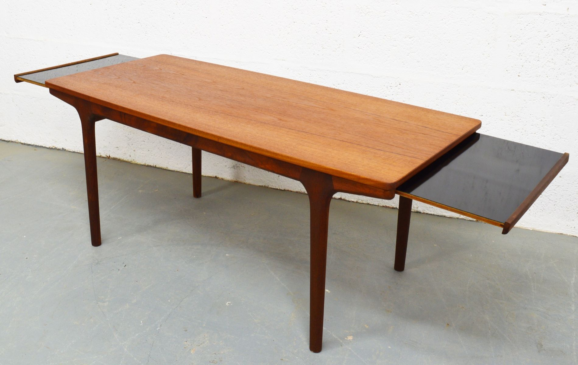 mid century teak and melamine extendable coffee table by. Black Bedroom Furniture Sets. Home Design Ideas