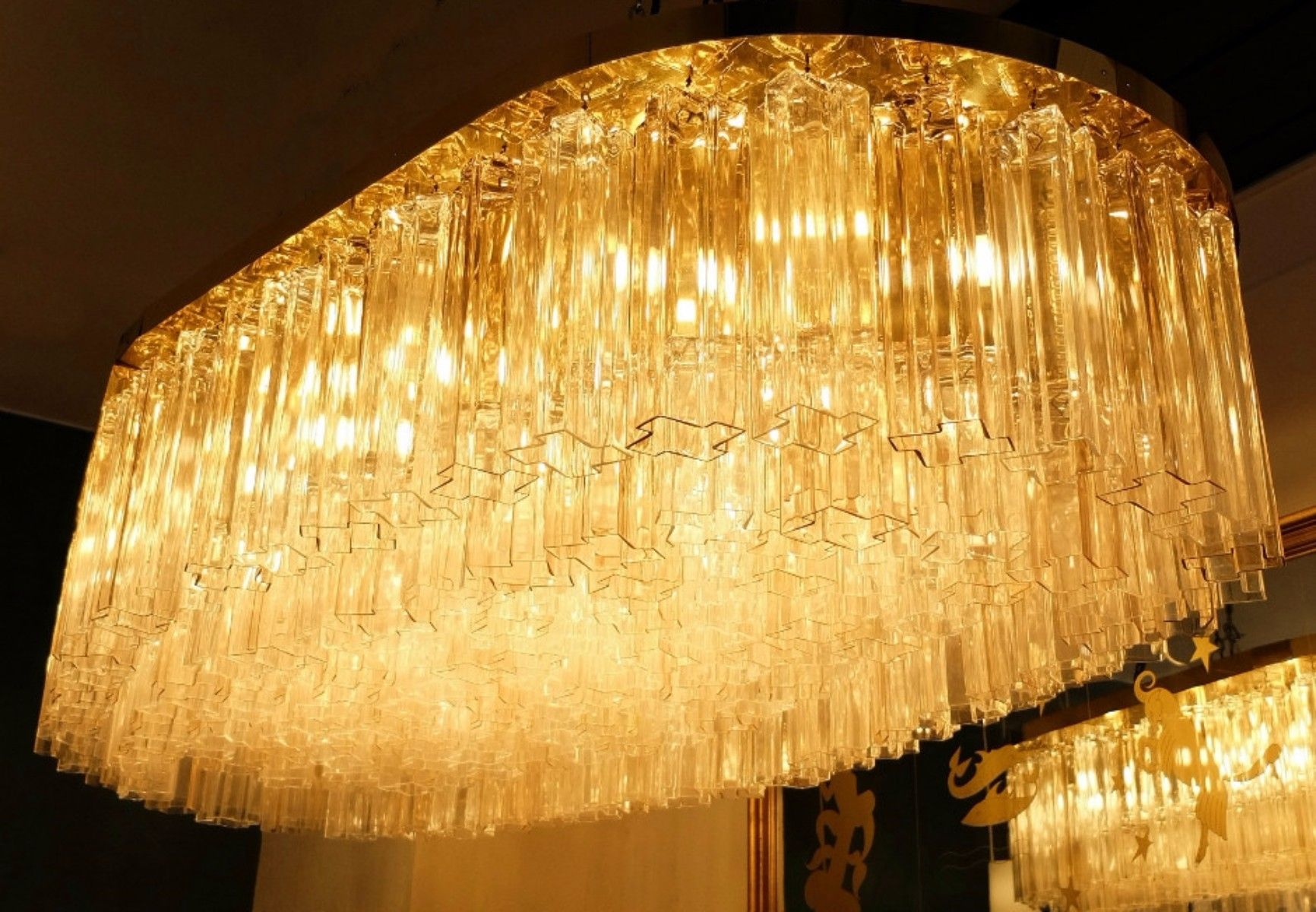 chandelier tronchi en verre murano 1970s en vente sur pamono. Black Bedroom Furniture Sets. Home Design Ideas