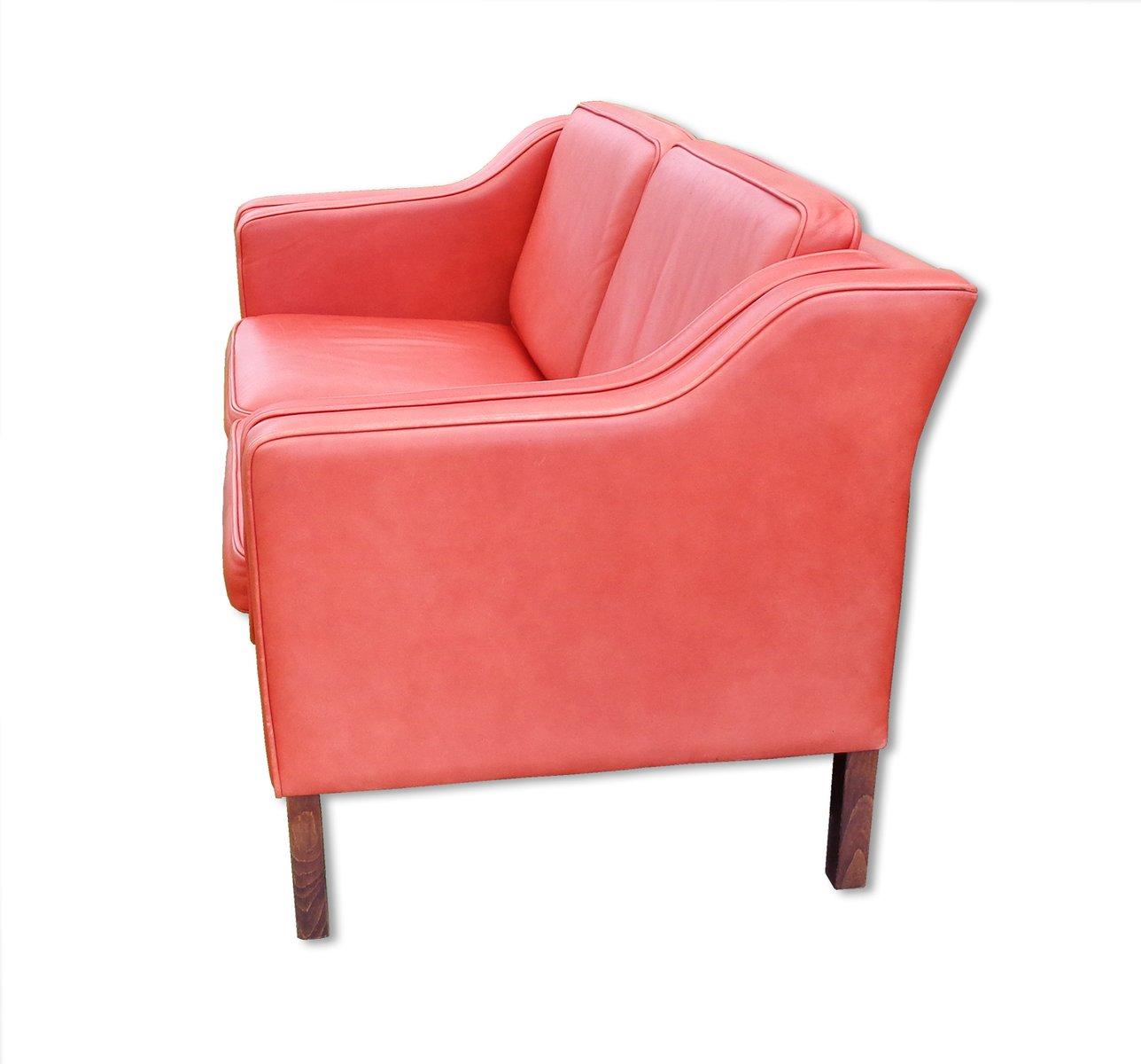 vintage 2 sitzer eva ledersofa von stouby 1980er bei. Black Bedroom Furniture Sets. Home Design Ideas