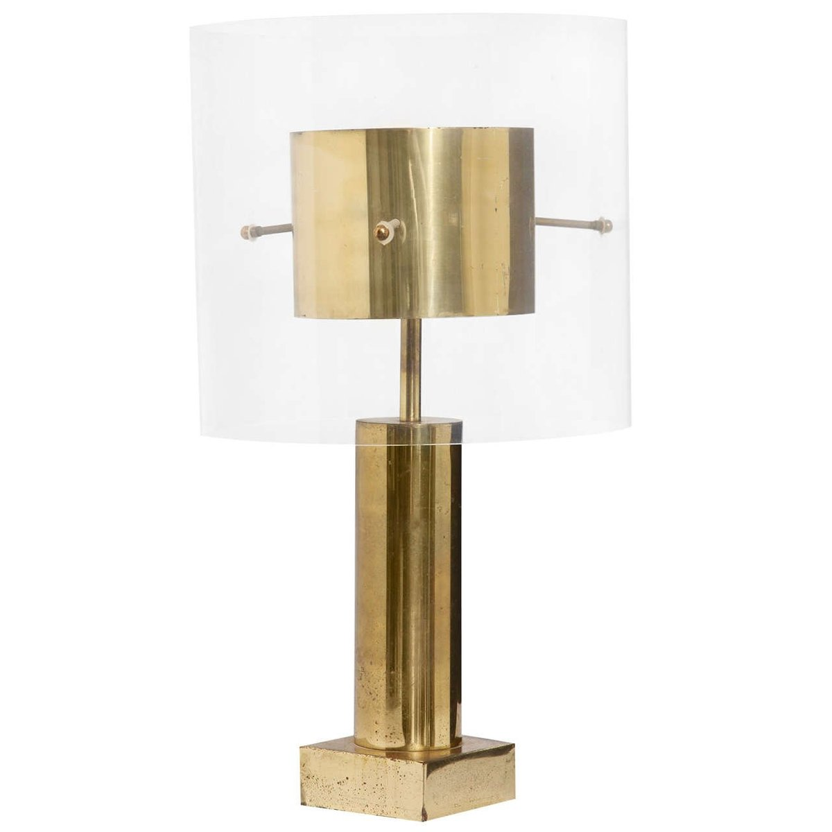 French brass lucite table lamp 1970s for sale at pamono geotapseo Images
