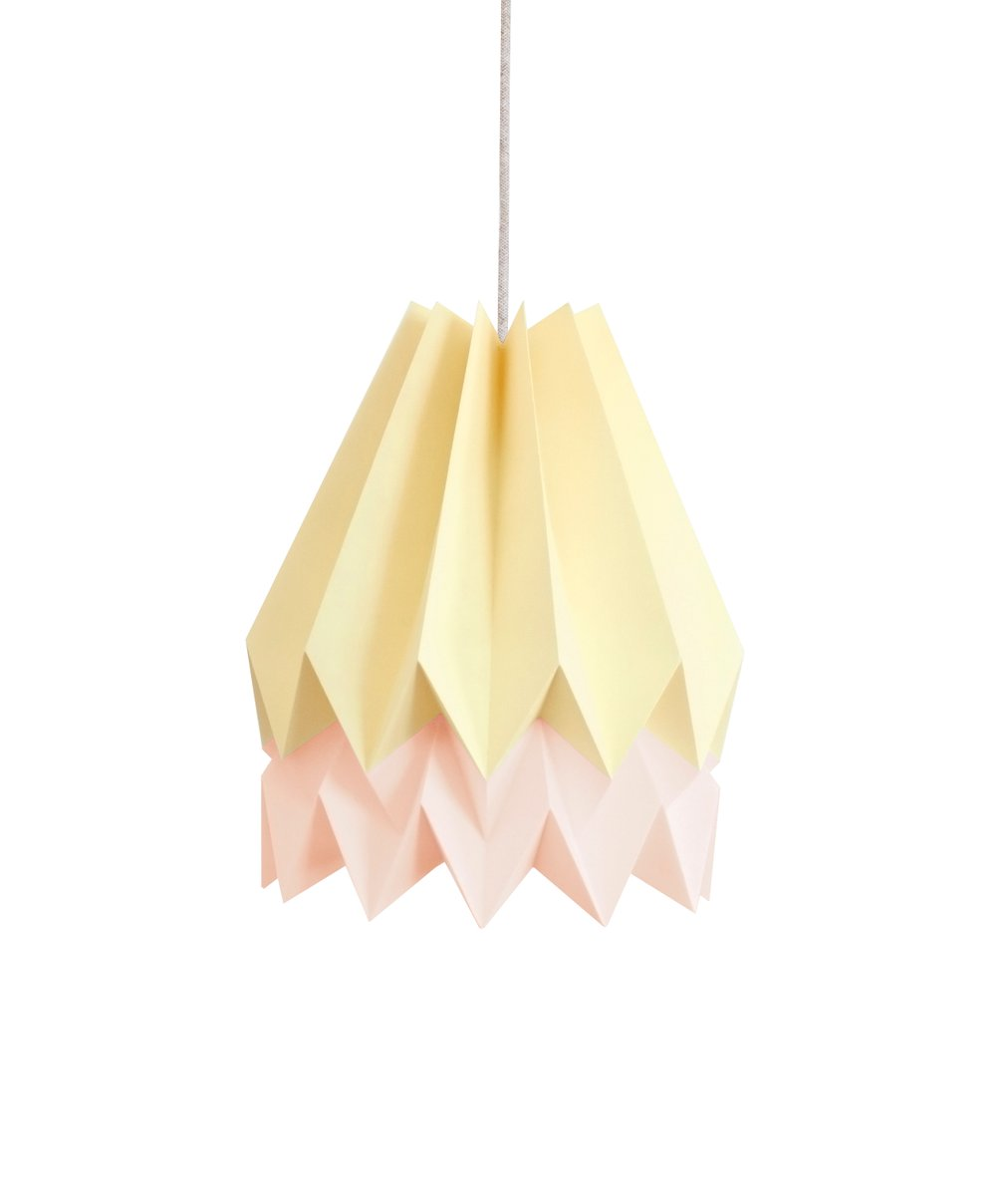 Pink yellow origami lampshade by orikomi for sale at pamono pink yellow origami lampshade by orikomi aloadofball Images