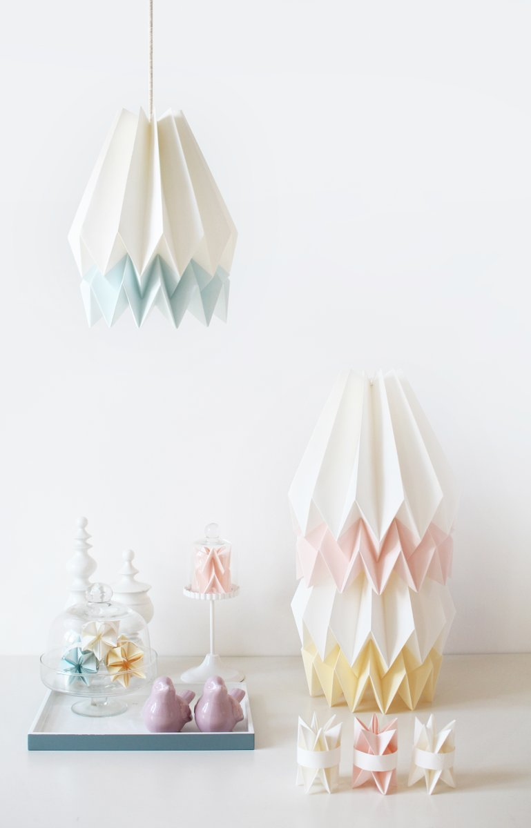 Pink white origami lampshade by orikomi for sale at pamono pink white origami lampshade by orikomi aloadofball Images