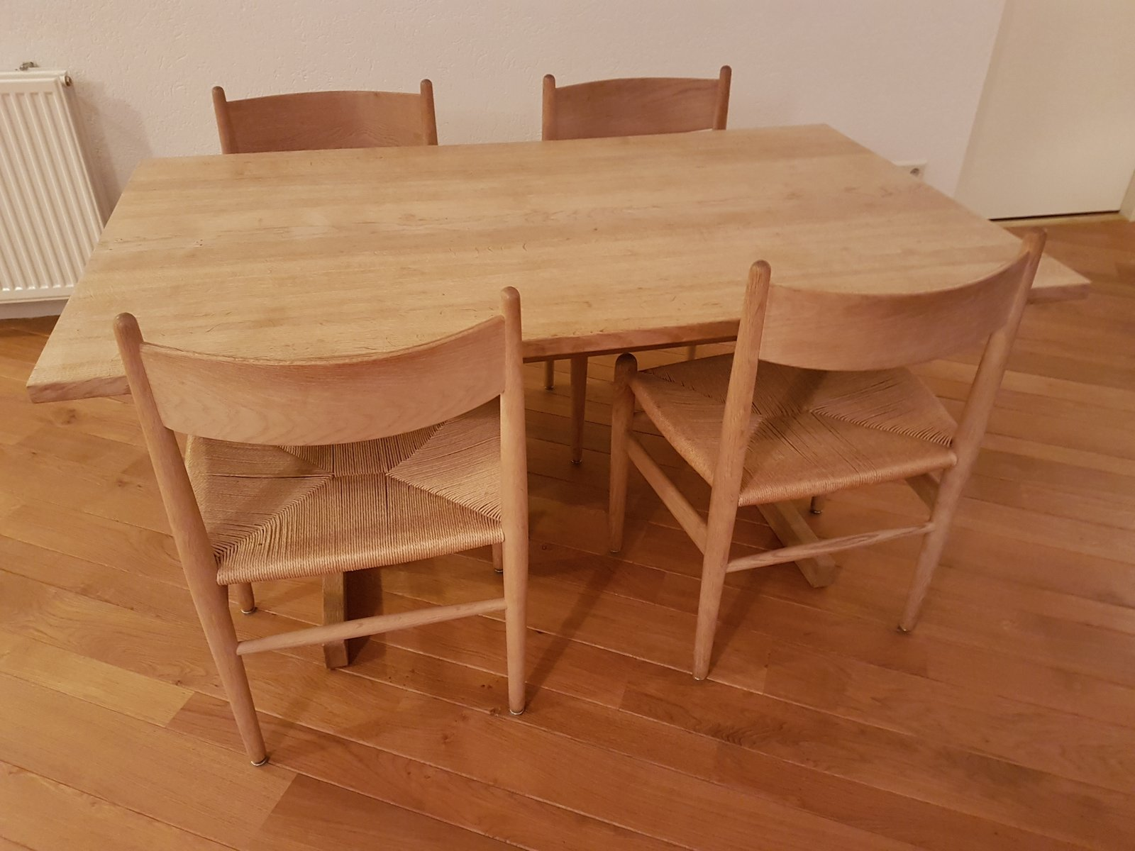 Dining Table With Four Chairs By Hans J Wegner 1970s For Sale At Pamono