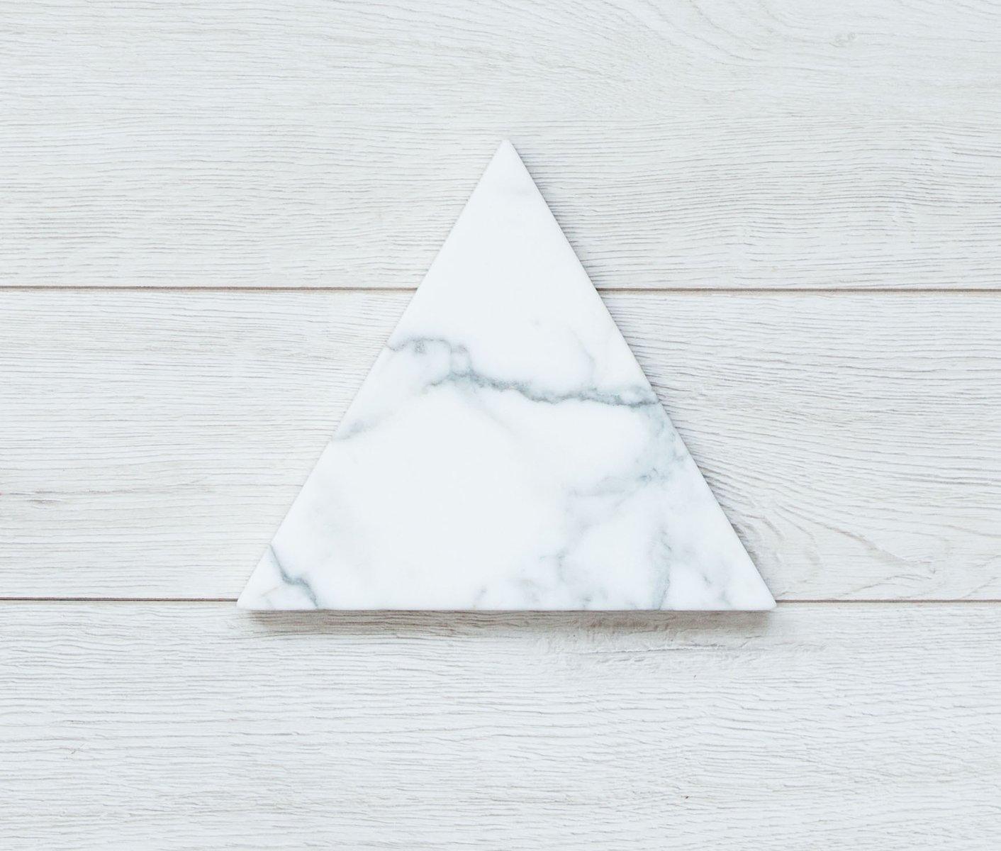 carrara marmor untersetzer mit weicher leder r ckseite von fort standard bei pamono kaufen. Black Bedroom Furniture Sets. Home Design Ideas