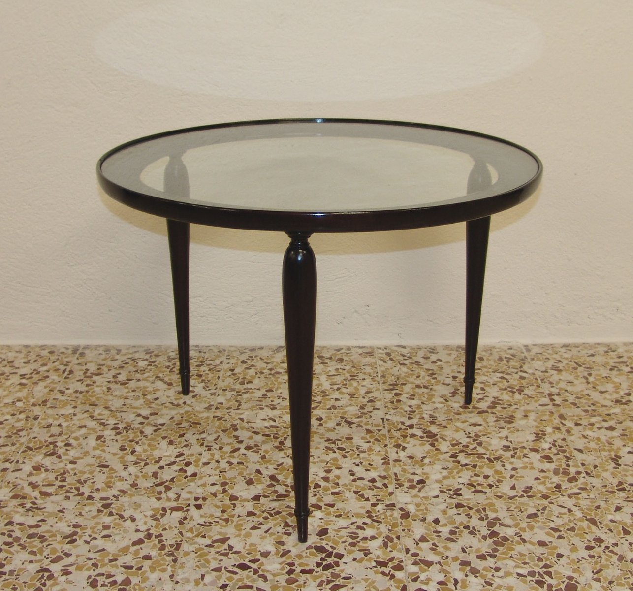 Vintage Italian Walnut Coffee Table 1950s For Sale At Pamono
