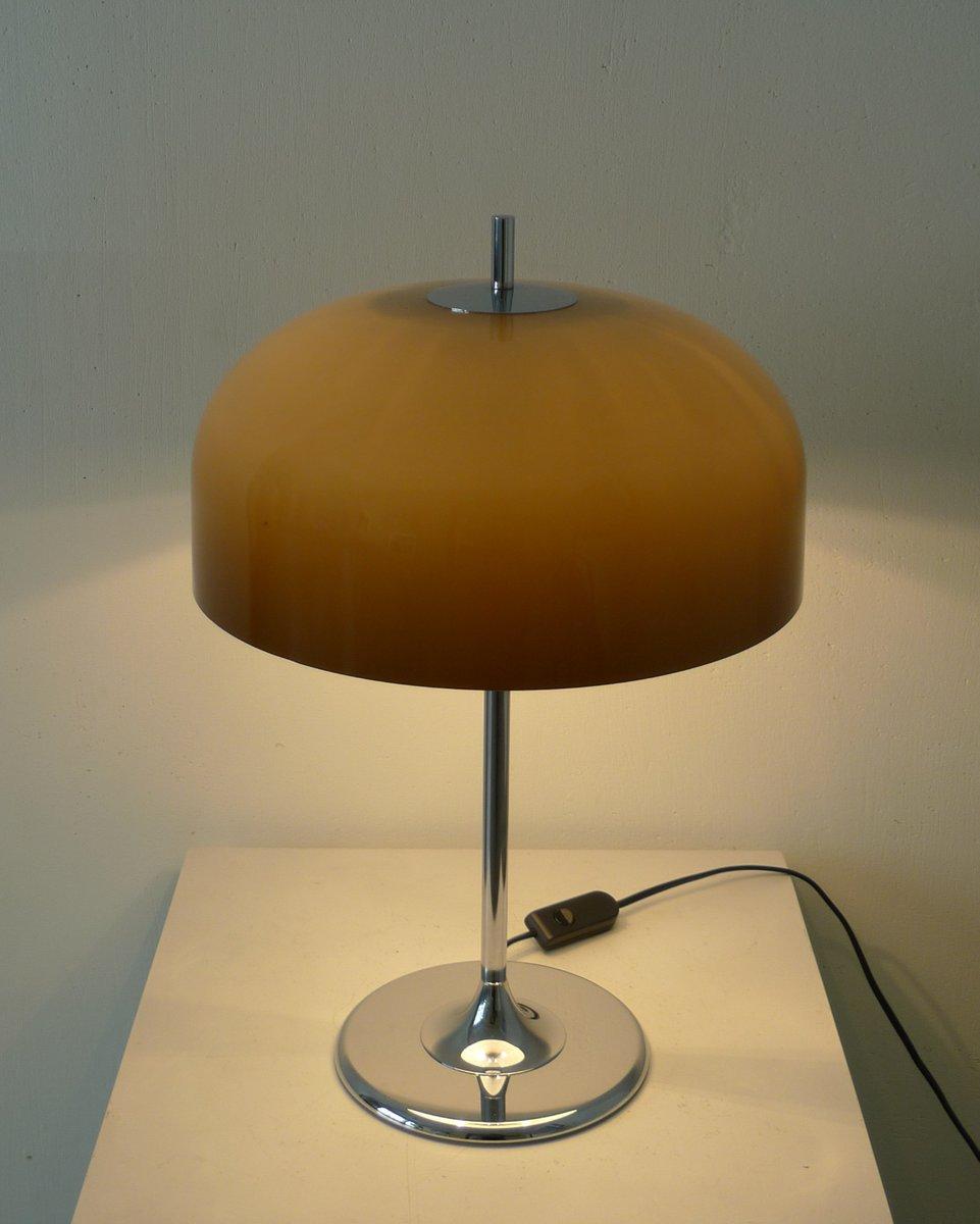 Lampe de bureau mid century avec pied tulipe allemagne for Lampe de bureau sur pied