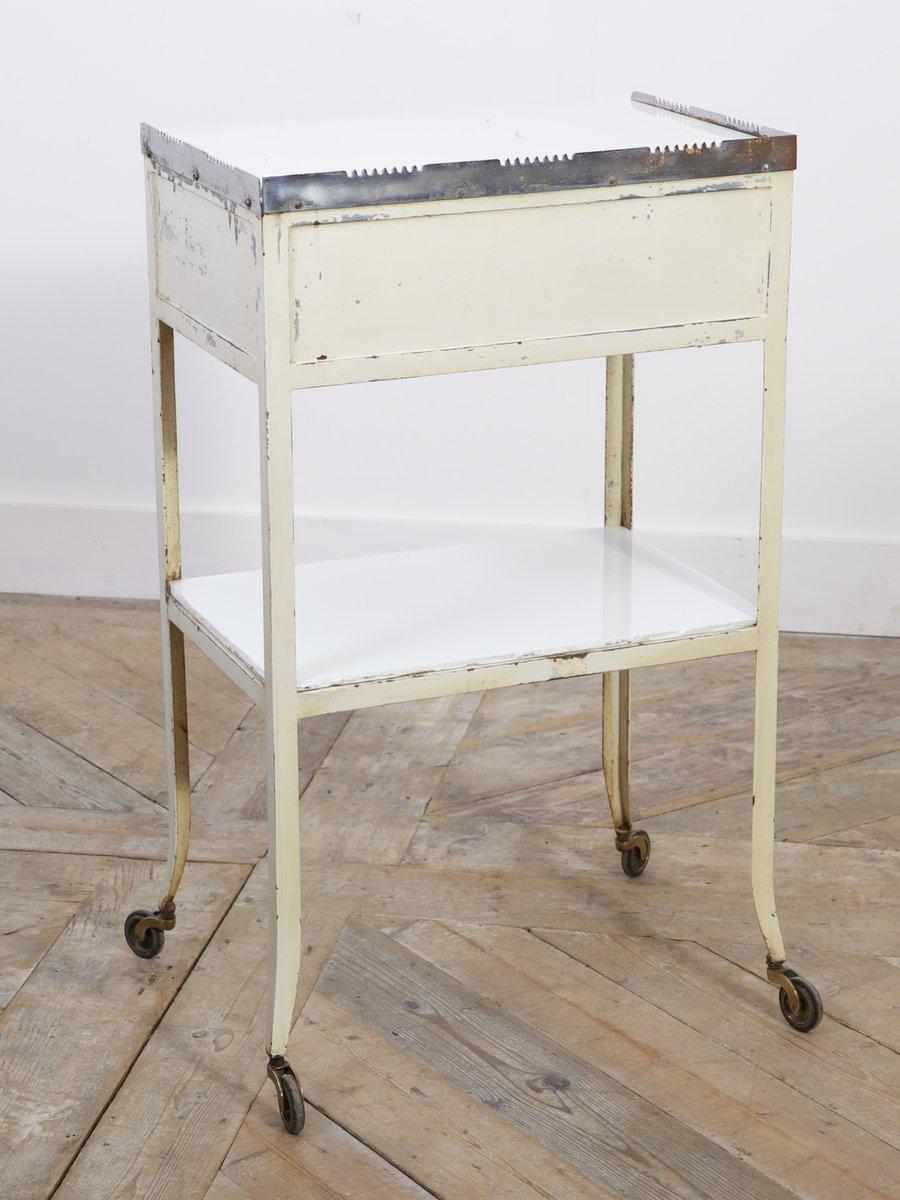 vintage zahnarzt tisch auf rollen 1930er bei pamono kaufen. Black Bedroom Furniture Sets. Home Design Ideas
