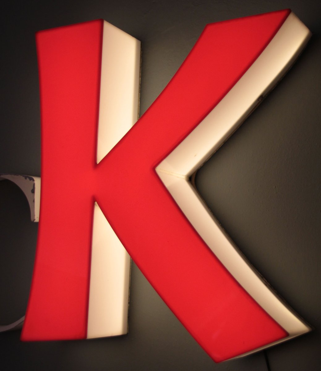 Large Metal Letter K Large Midcentury Metal Letters Glüc And Illuminated Letter K For