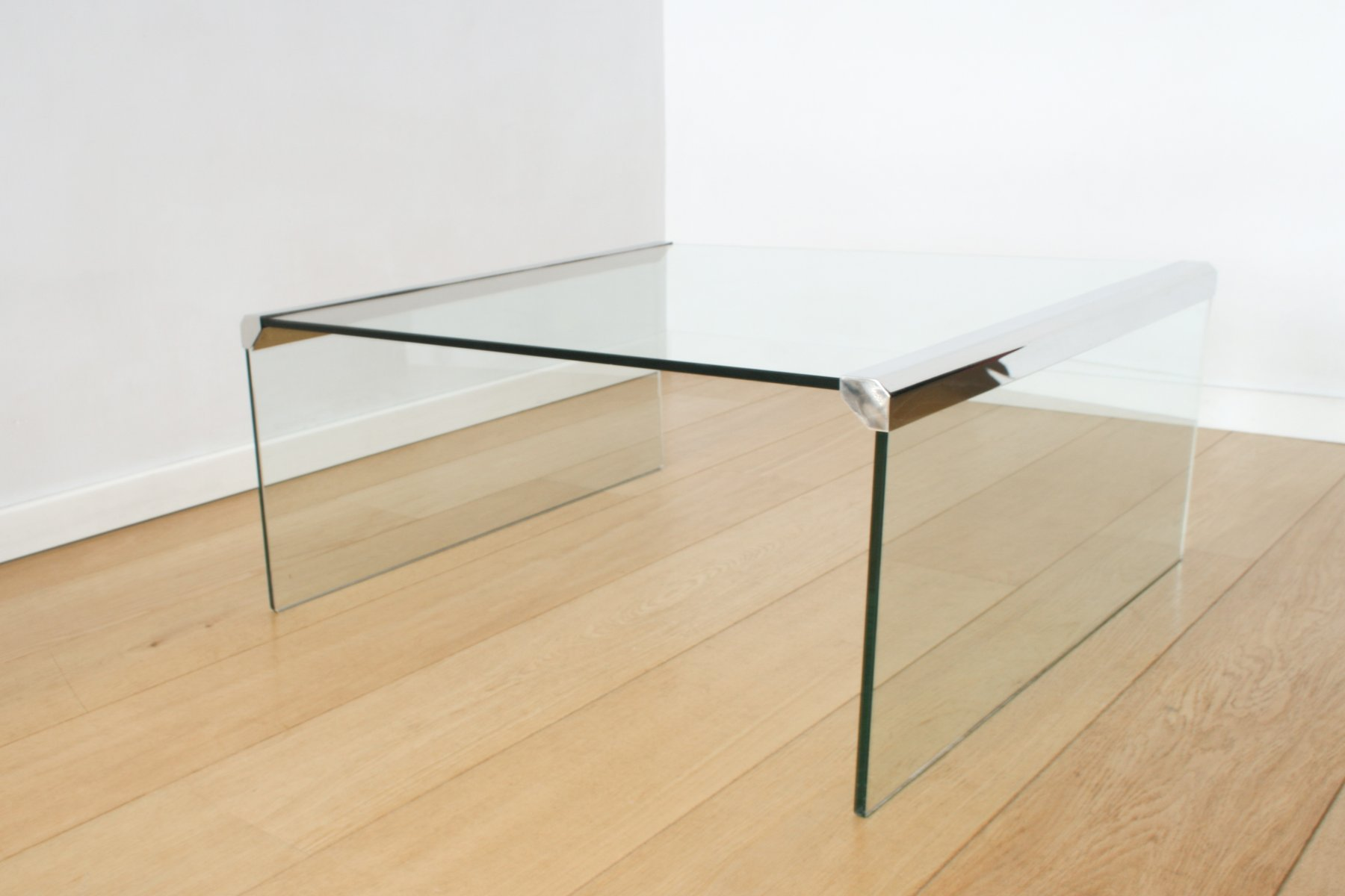 Clear Glass Coffee Table by Pierangelo Gallotti for Gallotti