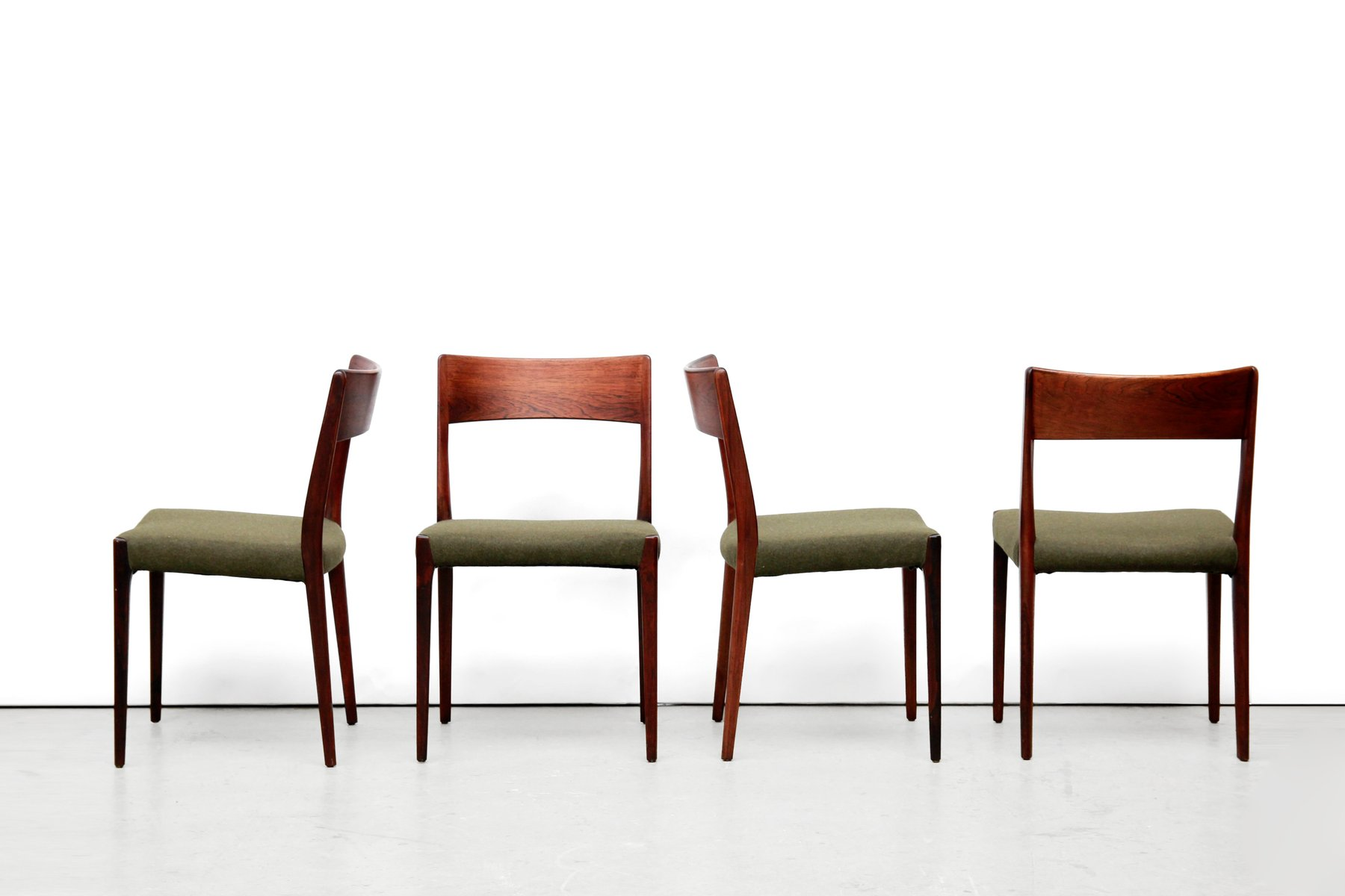 Vintage model rosewood dining chairs by niels o møller